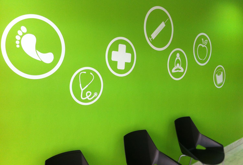 decoracion clinica vinilo alicante