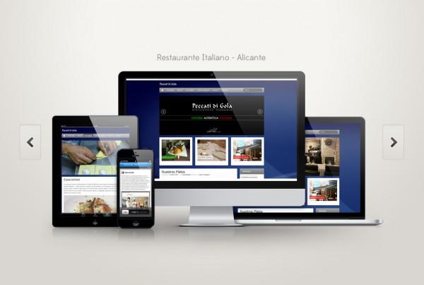 diseño web alicante restaurante
